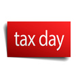 tax day red paper sign on white background vector image vector image