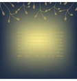 Template invitation card deep blue golden vector image