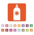 The sun cream icon Sunscreen symbol Flat vector image