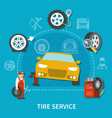 tire service concept vector image