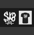 tshirt sk8 slogan design t shirt quote print vector image vector image