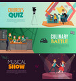tv show kids horizontal banners vector image