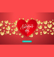 valentines background with romantic red and gold vector image vector image