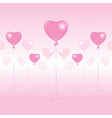valentines day light pink and pink balloons on vector image vector image
