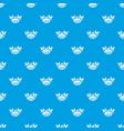vegan food pattern seamless blue vector image