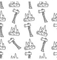 vintage hand drawn camping seamless pattern vector image vector image