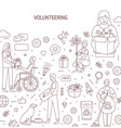 volunteering banner design humanitarian vector image