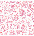 wedding and valentines day icons vector image vector image