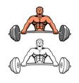 Weightlifter vector image