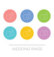 white thin line wedding rings vector image vector image