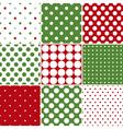 Christmas Polka Dot Seamless Patterns vector image