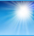 summer sun light in the blue sky vector image