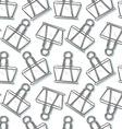 Binder Clip sketch seamless pattern background vector image