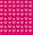 abstract seamless pattern with heart shapes on vector image vector image