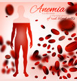 anemia and hemophilia background vector image