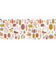 autumn seamless border seamless vector image