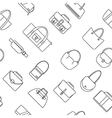 bag purse seamless pattern vector image