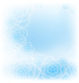 beautiful blue rose flower background vector image vector image