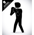 boxing label design eps10 graphic vector image vector image