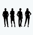 businessman couple silhouette vector image