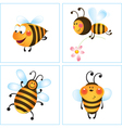 cartoon bumble bees vector image vector image