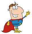 Caucasian Super Hero vector image vector image