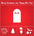 cemetery icon vector image vector image