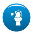 ceramic toilet icon blue vector image vector image