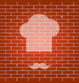 chef hat and moustache sign whitish icon vector image vector image