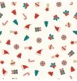 Christmas symbols seamless background xmas vector image vector image