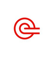 circle letter e company logo vector image