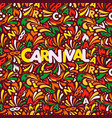 colorful abstract banner traditional carnaval vector image
