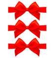 colorful cartoon red bow set vector image