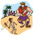 David and goliath vector | Price: 1 Credit (USD $1)