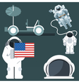 Digital silver and white astronauts icon vector image vector image