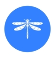 Dragonfly icon in black style isolated on white vector image vector image