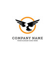 eagle logo template eagle fly in circle wild vector image vector image