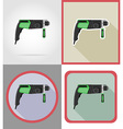 electric repair tools flat icons 02 vector image vector image
