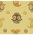 ethnic seamless pattern Indian ornament vector image vector image