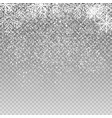 falling shining snowflakes and snow on transparent vector image vector image