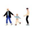 family conflict divorce disagreement in vector image vector image