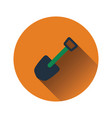 flat design icon of camping shovel vector image vector image
