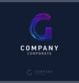 g company logo design with visiting card vector image