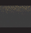 gold falling glitter particles effect vector image