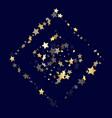 Gold gradient star dust sparkle background