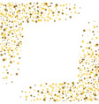 golden stars with white square in the middle vector image