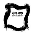 handdrawn grunge dry brush frames modern grunge vector image