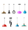 hanging lamp ceiling light decorative electrical vector image vector image