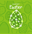 happy easter greeting card background with vector image vector image