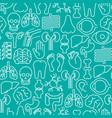human internal organs seamless pattern vector image